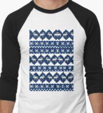 Blue Xmas Baseball ¾ Sleeve T-Shirt
