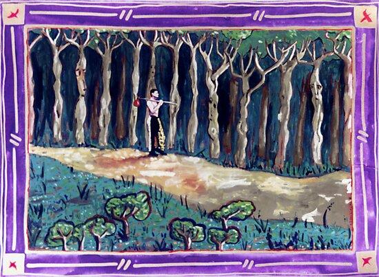 A Forest Shortcut  by John Douglas