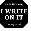 Break through the wall and write by Monica Carroll