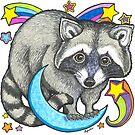 Cosmic Raccoon by Lynda Bell