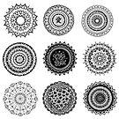 Mandala Collage - Eine Sammlung von neun Original Mandalas von georgiamason