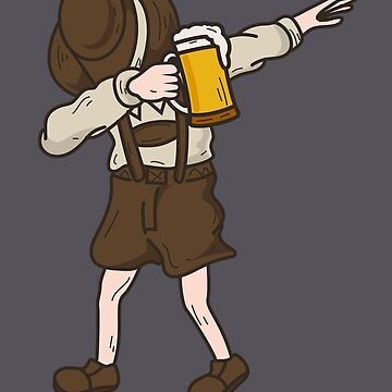 Cool Dabbing German Man With Beer Mug Art Oktoberfest Gift by NBRetail
