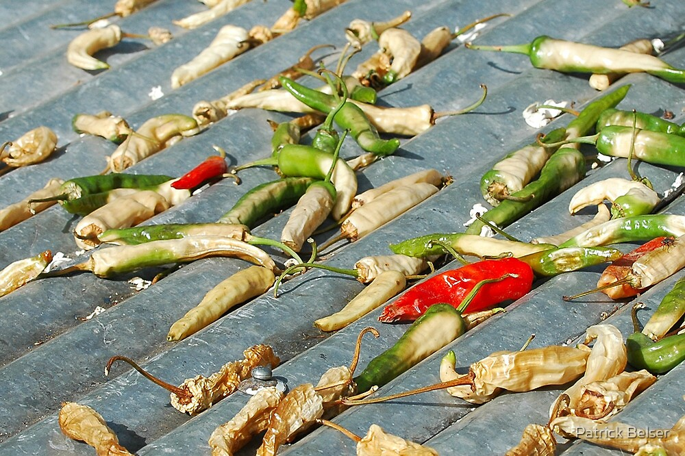 Drying Chilli by Patrick Belser