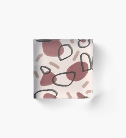 Abstract Fall II #redbubble #abstractart Acrylic Block