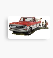 The Ford F100. 1970s Favourite Pickup!  Metal Print