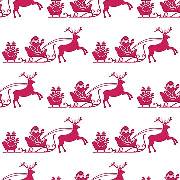 Christmas and Happy New Year 2019 seamless pattern by aquamarine-p