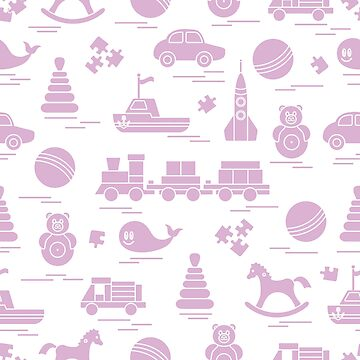 Seamless pattern with kids toys. by aquamarine-p