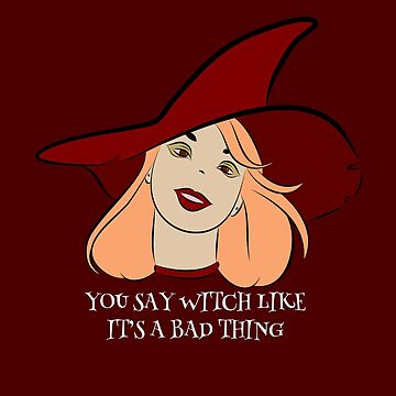 Halloween Bad Witch Design, Magic Witch for Tee, t-shirt and more by BossBabeArt