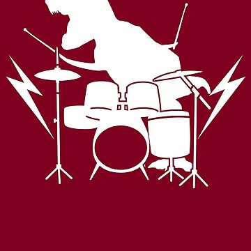 Cool Dinosaur Drummer Art - Best Gift For All Drummers by NBRetail