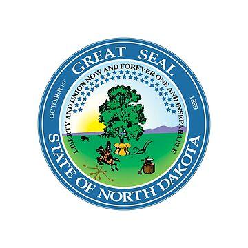 North Dakota State Seal by fourretout