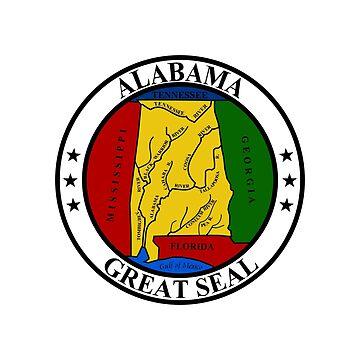 Seal of Alabama by fourretout