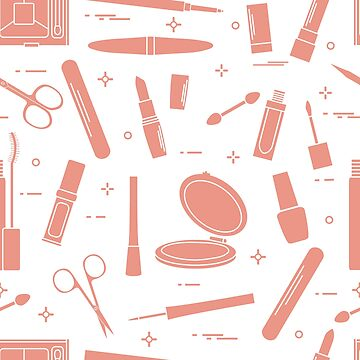 Pattern of decorative cosmetics, nail tools. by aquamarine-p