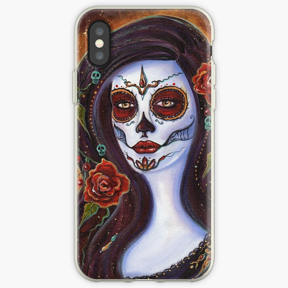 Day of the dead Autumn Rose By Renee Lavoie iPhone Case & Cover