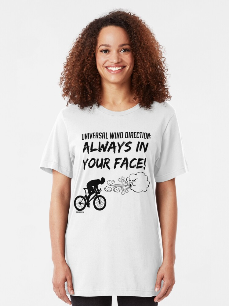 T-shirt ajusté ''Universal wind direction : ALWAYS IN YOUR FACE (black)' : autre vue
