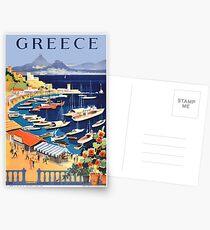 Retro- Reise-Plakat Griechenlands / der griechischen Inseln Postkarten