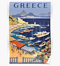 Retro- Reise-Plakat Griechenlands / der griechischen Inseln Poster