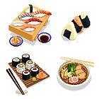 Japanese food 2 pixel art by Sev4