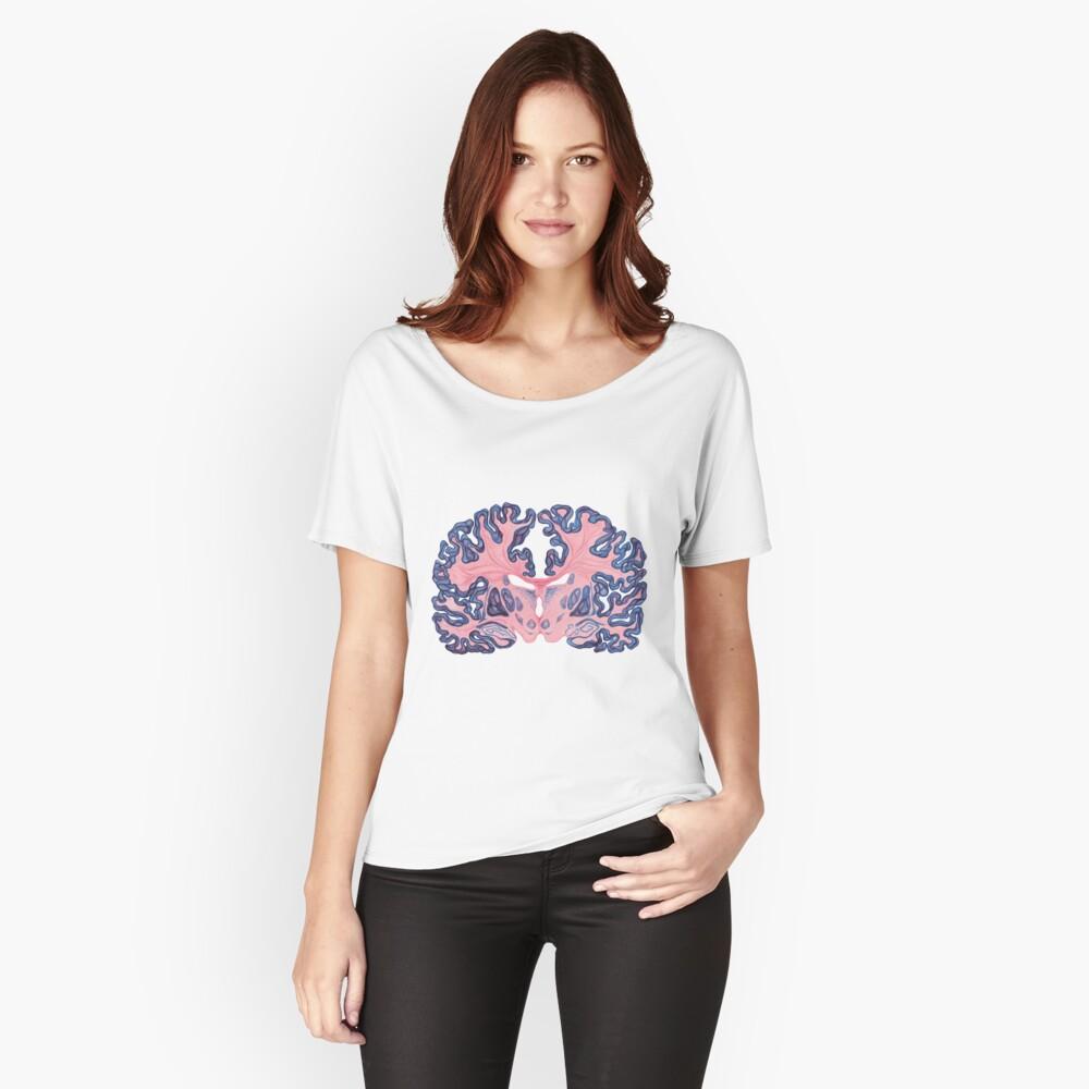 Gyri und Wirbel des menschlichen Gehirns Loose Fit T-Shirt