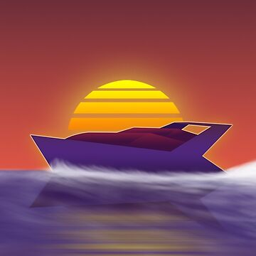 1980's Sunset Yacht by GiorgioN