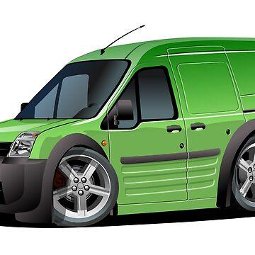 Cartoon delivery van by Mechanick