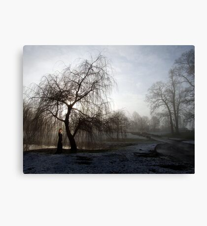Figure in the Mist Canvas Print
