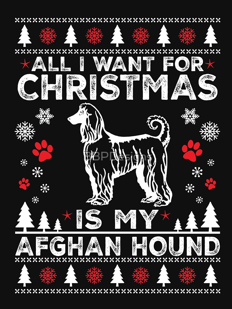 Merry Christmas Afghan Hound Dog Lover Gift by BBPDesigns