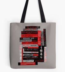 Murakami Book Stack Fanatic (Colour) Tote Bag
