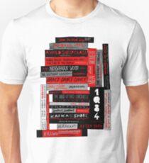 Murakami Book Stack Fanatic (Colour) Unisex T-Shirt