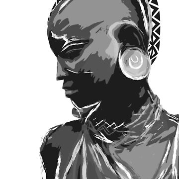 African Monochromatic Art  by NoraMohammed