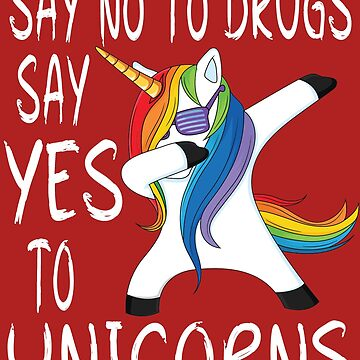 Red Ribbon Week Kids Youth Say No to Drugs Say Yes to unicorn by mirabhd