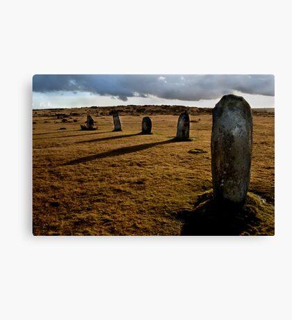 The Hurlers Stone Circle - Cornwall Canvas Print