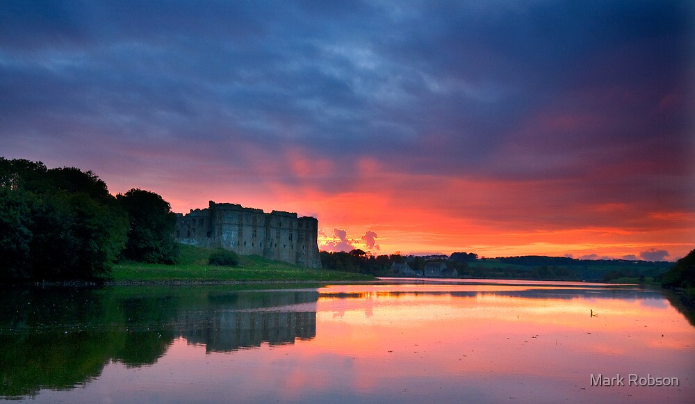 Carew Castle Sunset by Mark Robson