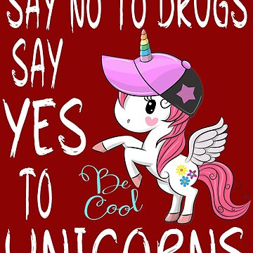Red Ribbon Week Kids Youth Say No to Drugs Say Yes to unicorn shirts by mirabhd