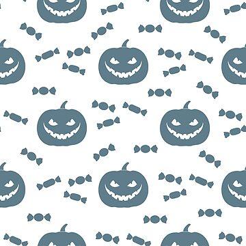 Halloween 2019 seamless pattern. Pumpkin, sweets. by aquamarine-p