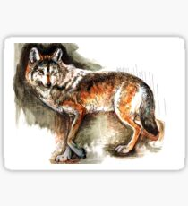 Totem Mexican Wolf ( Watercolor ) Pegatina