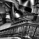 Over The Rails - QVB Building (Monochrome) , Sydney - The HDR Experience by Philip Johnson