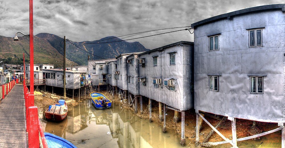 Tin Houses on Stilts in Tai O - Panoramic HDR by HKart