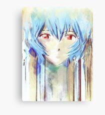 Ayanami Rei Evangelion Anime Tra Digital Painting  Canvas Print