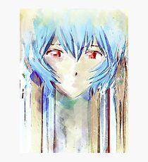 Ayanami Rei Evangelion Anime Tra Digital Painting  Photographic Print
