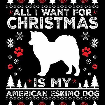 Merry Christmas American Eskimo Dog Lover Gift by BBPDesigns