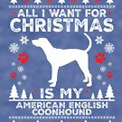 Christmas American English Coonhound Dog Lover Gift by BBPDesigns