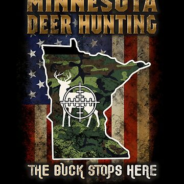 Minnesota Deer Hunter American Flag Deer Hunting Gifts American Hunting Apparel by vince58