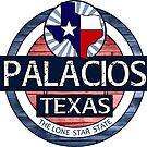 Palacios Texas rustic wood circle by artisticattitud