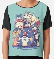 Creatures Spirits and friends Chiffon Top