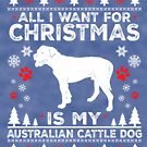 Merry Christmas Australian Cattle Dog Lover Gift by BBPDesigns