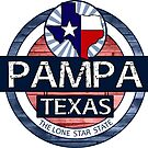 Pampa Texas rustic wood circle  by artisticattitud