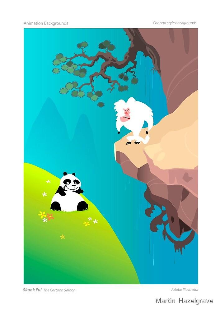 Skunk Fu......Animation Backgrounds by Martin  Hazelgrave