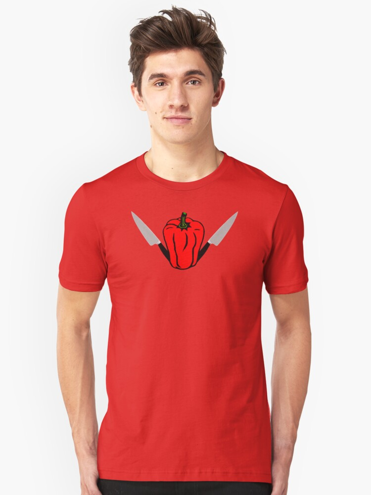 Red peppers are killers Tee Unisex T-Shirt Front