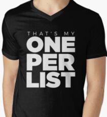 ONE PER LIST Men's V-Neck T-Shirt