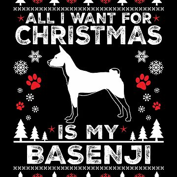 Merry Christmas Basenji Dog Lover Gift by BBPDesigns
